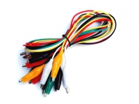 Pack 10 Cable con cocodrilo
